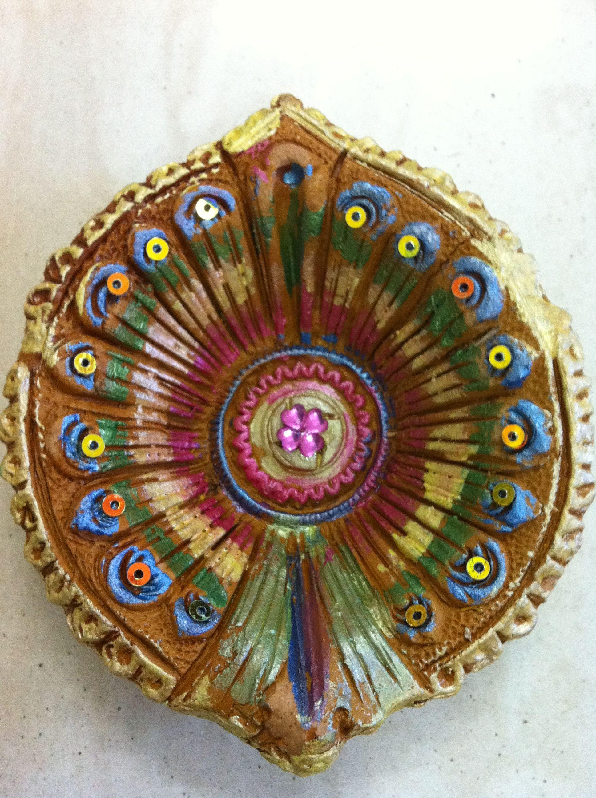 A painted diya india real pinterest diwali