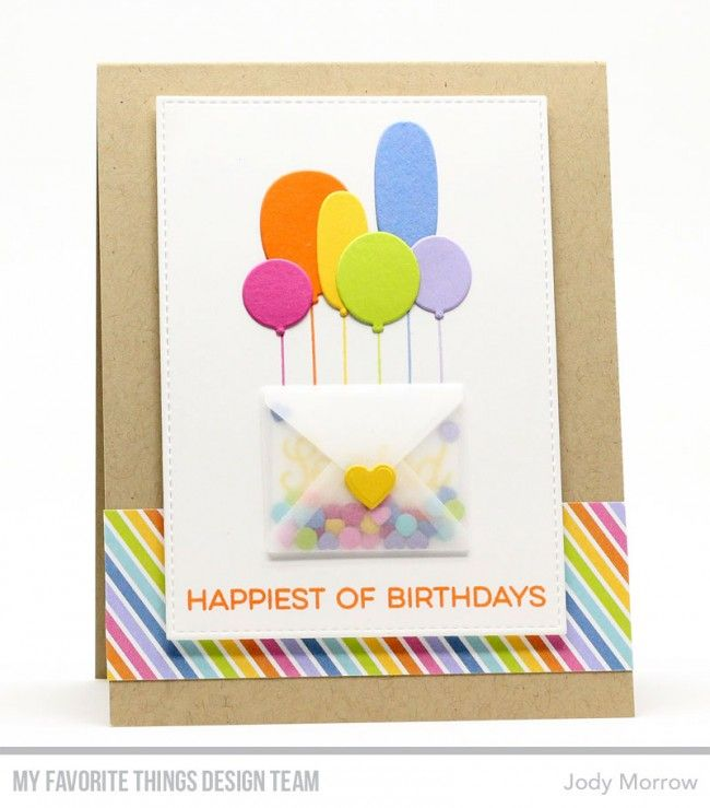 Card Balloon Balloons Mail Envelope MFT Sending Birthday Wishes Kit Die Namics Mftstamps