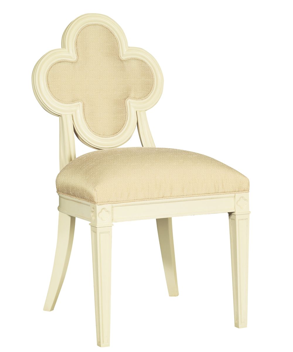amazing quatrefoil chair - Hickory Chair Alexandra Side Chair in Antique Ivory & Oatmeal