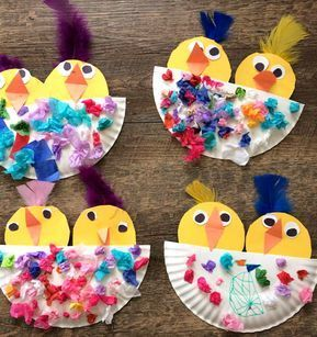 Photo of Chick Craft in a Paper Plate Nest – Crafty Morning