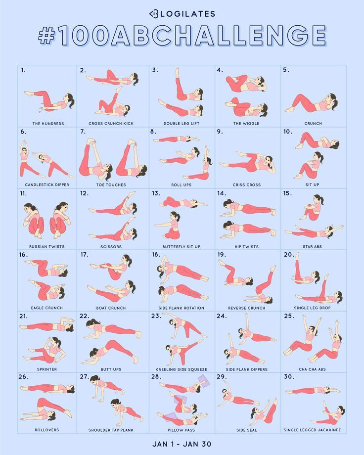 100 Ab Challenge. You in? – Blogilates -  Fitness trainingsplan - #Blogilates #Challenge #Fitness #t...
