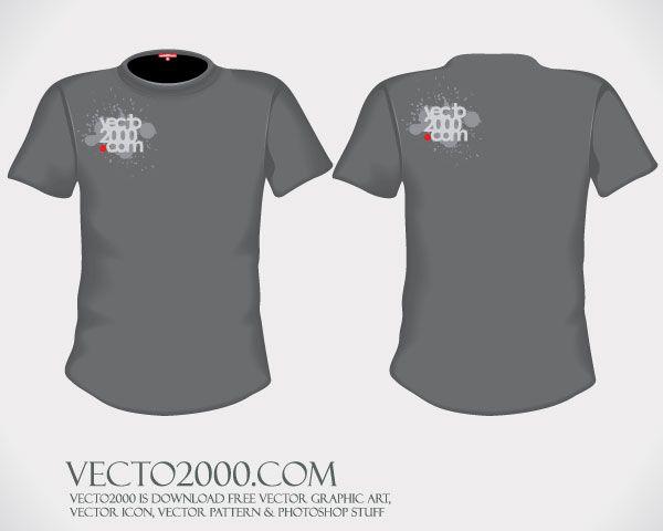 Download Men T Shirt Template Free Vector Illustrator T Shirt Design Template Shirt Template T Shirt Design Vector