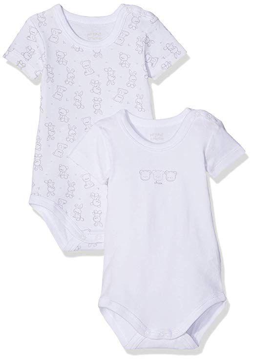 Chicco Baby Set 2 Body Manica Corta Con Apertura Sulla Spalla Bodysuit bdbbe7b2873