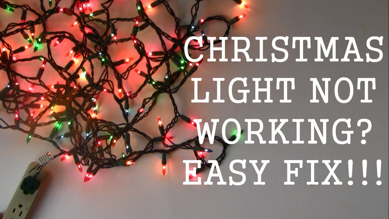 How to repair christmas light not working easy fix christmas lights how to repair aloadofball Image collections
