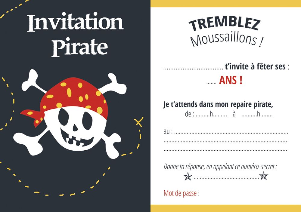 carte invitation pirate anniversaire pinterest communion. Black Bedroom Furniture Sets. Home Design Ideas