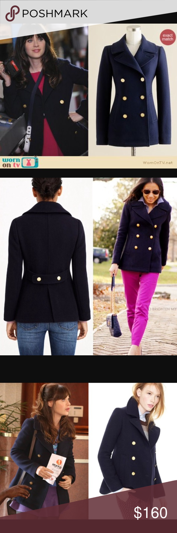 ✨J.Crew Majesty Navy Peacoat✨ This piece is a CLASSIC!! This coat cost almost $400 in stores and it's in perfect condition! J. Crew Jackets & Coats Pea Coats