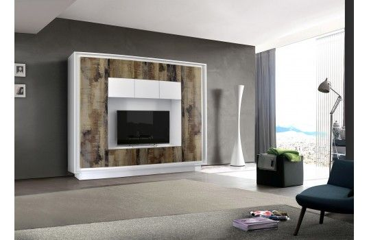 Meuble TV mural Matteo, un meuble TV design avec de nombreux - Meuble Tv Avec Rangement