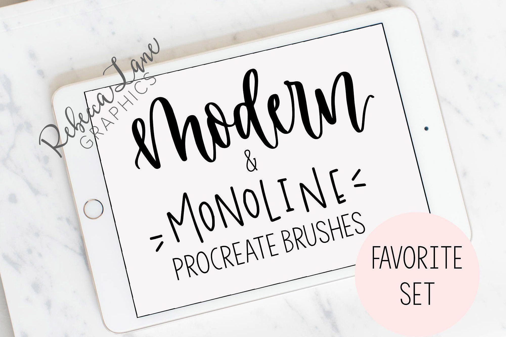 Calligraphy procreate brushes 1 set procreate