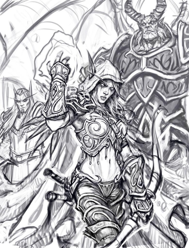 World Of Warcraft Coloring Book Recherche Google Warcraft Art Sketch Book World Of Warcraft