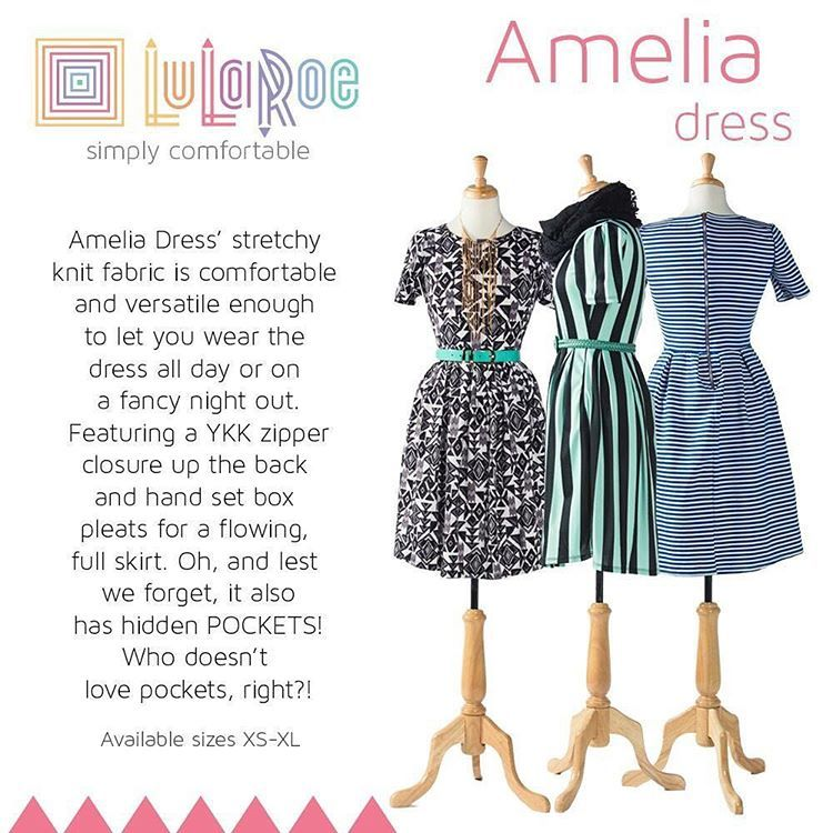 Lularoe Amelia Dress Flattering For All Size Plus It Has