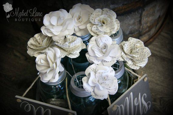 Wholesale 100 Book Page Paper Flowers Bulk Order Flowers Home