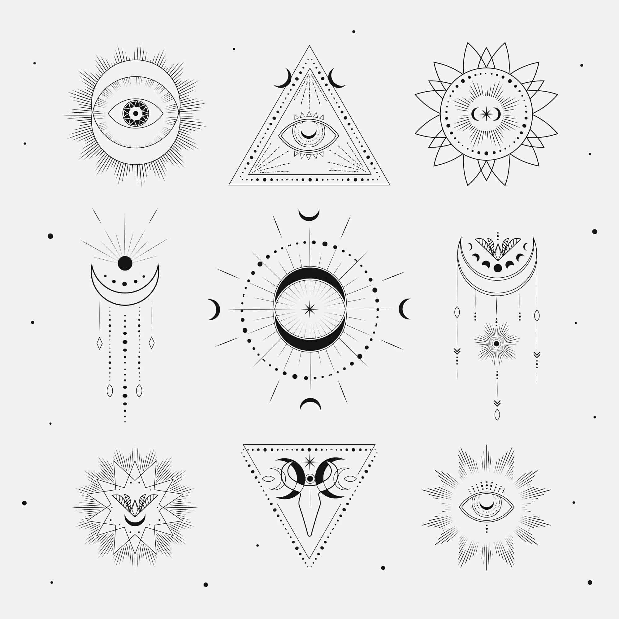 Free Sacred Geometry Logo Templates (AI) in 2020 Sacred