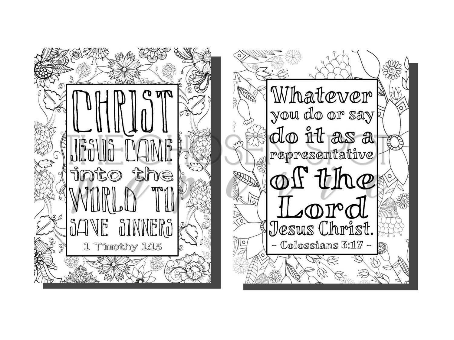 Bible Verse Coloring Pages Printable Pages Christian Gifts Adult