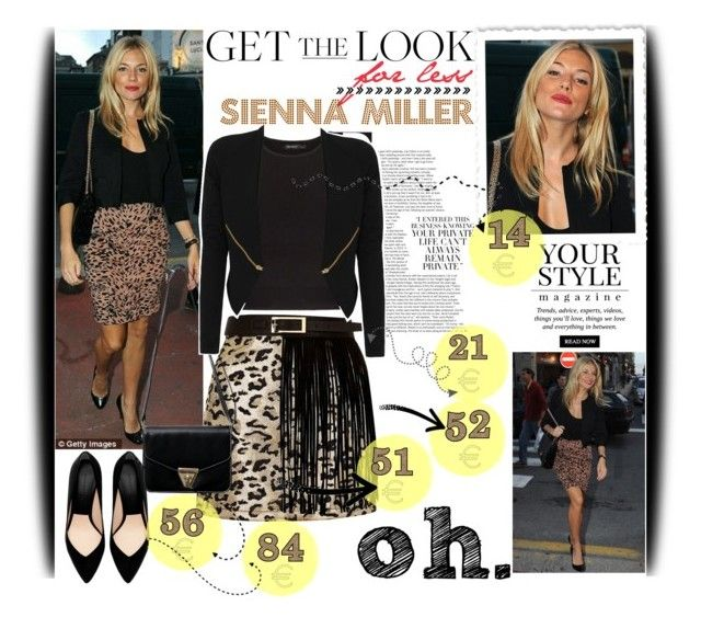 """""""Get the look for less: Sienna Miller"""" by mairoula4189 ❤ liked on Polyvore featuring mode, Topshop, Zara, MANGO, River Island, Twenty8Twelve en Pussycat"""