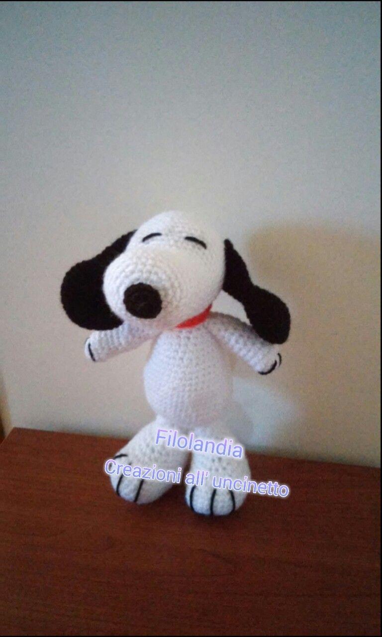 Snoopy #snoopy #crochet #amigurumi #uncinetto #toys #faidate
