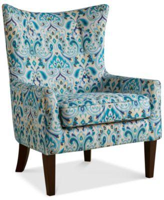 Strange Brie Printed Fabric Accent Chair Quick Ship Home And Inzonedesignstudio Interior Chair Design Inzonedesignstudiocom