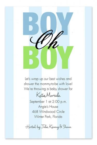 Baby Shower Invitations for Boys baby shower Pinterest
