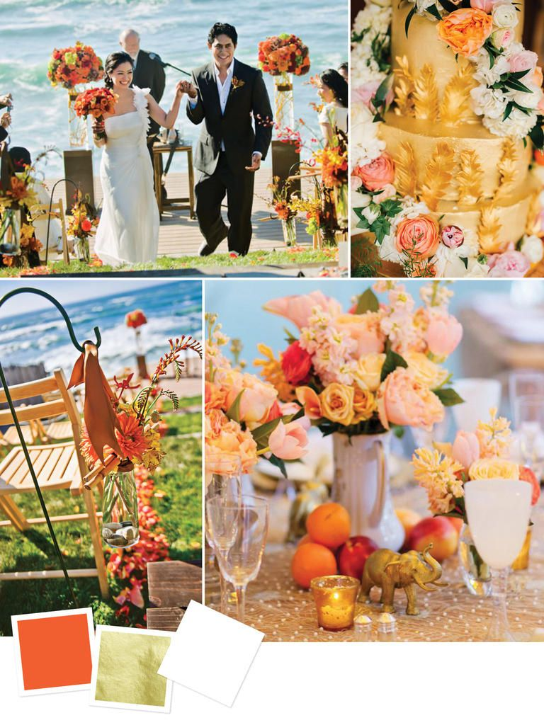 Beach Wedding Color Palettes We Love | Beach weddings, Late summer ...