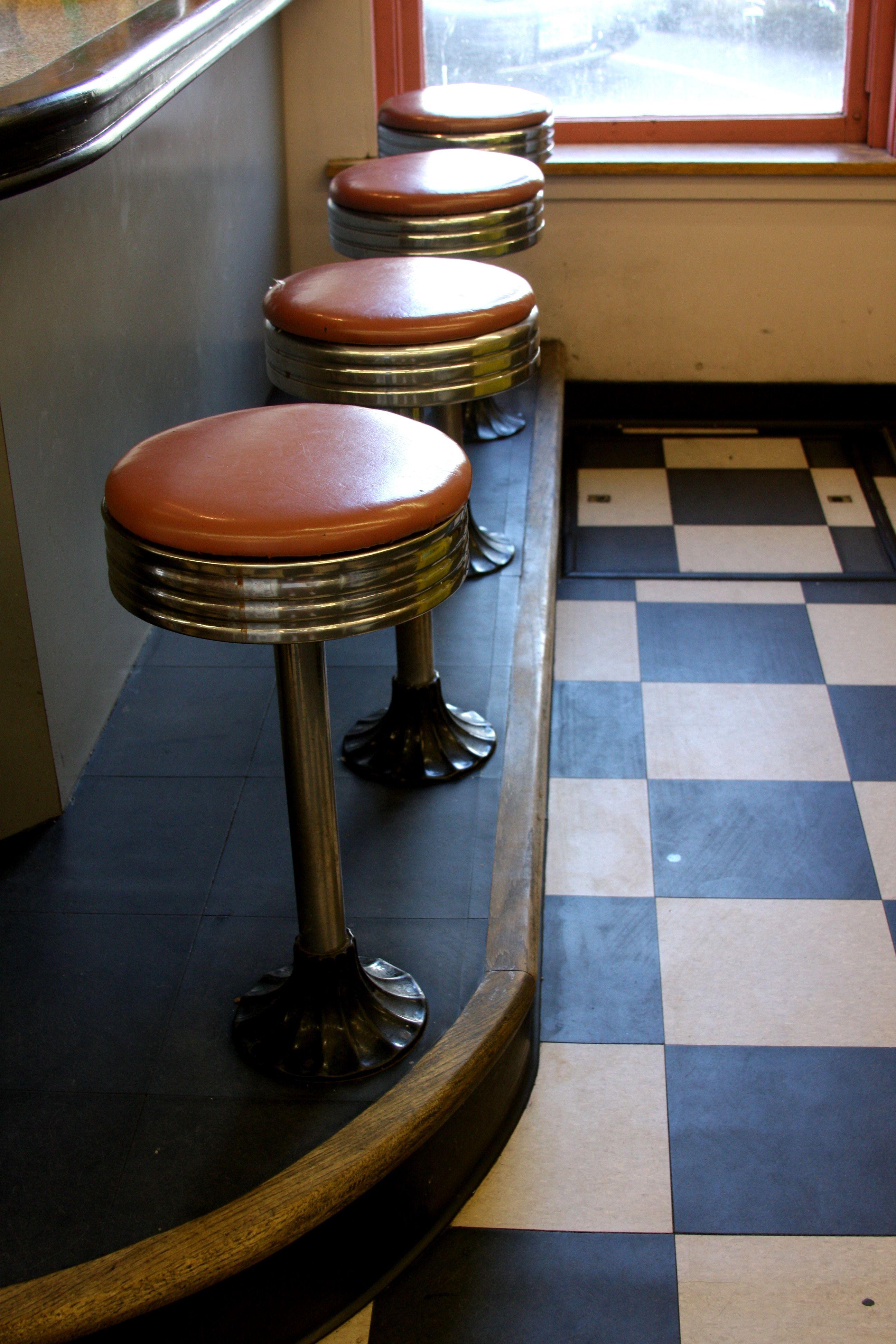 Good Alternative Seating Concept: Floor Mounted Stools On Built In Floor