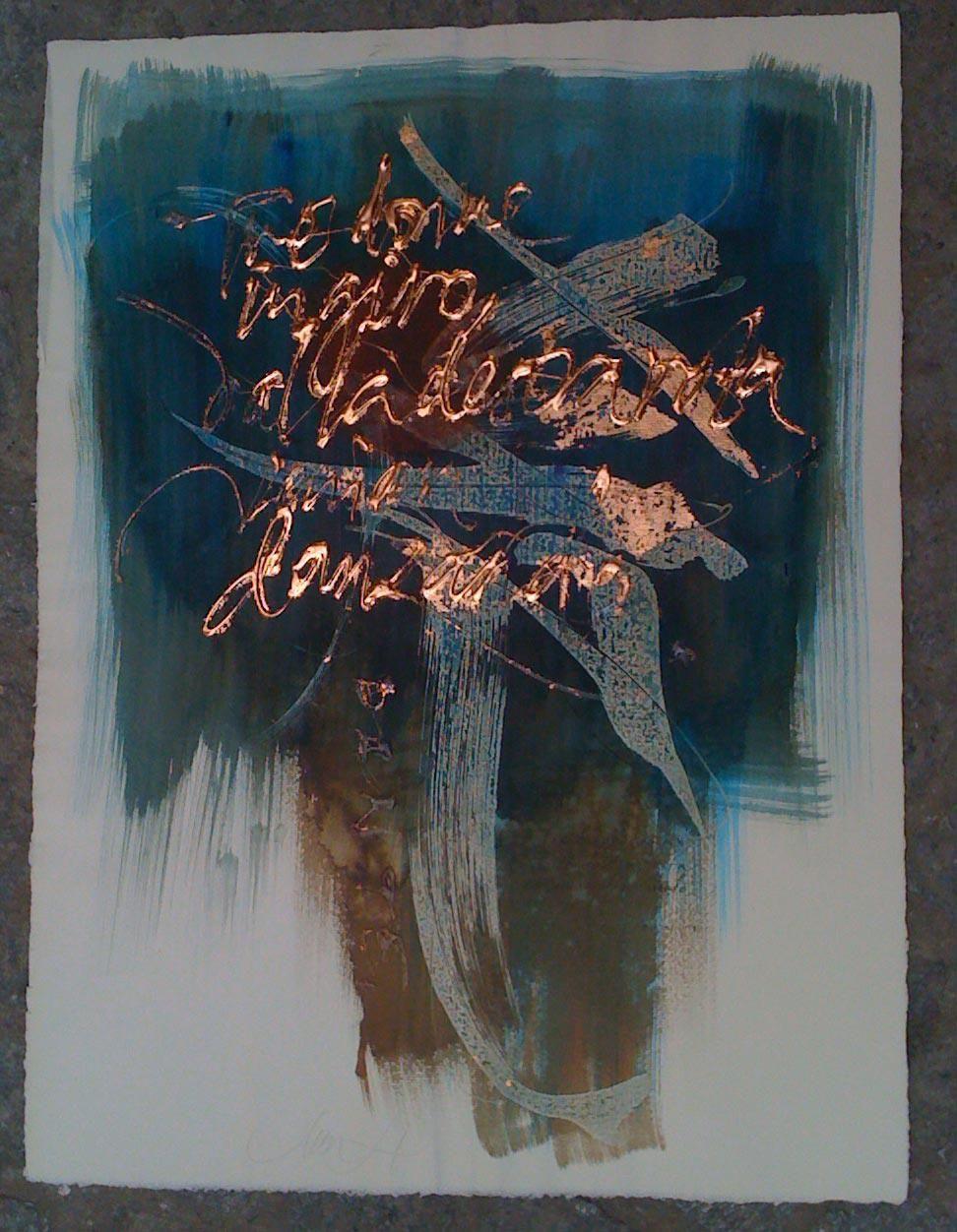 """Chen Li, """"Tree Woman"""" (2012) - """"Tre donne in giro da la destra rota   venian danzando; l'una tanto rossa   ch'a pena fora dentro al foco nota [...]"""" (Dante Alighieri, Purgatorio · Canto XXIX)"""