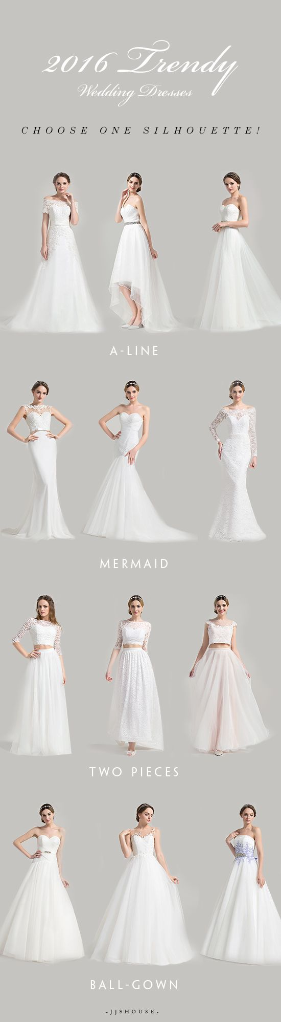 2016 Trendy Wedding Dresses,Choose one Silhouette for your bride ...