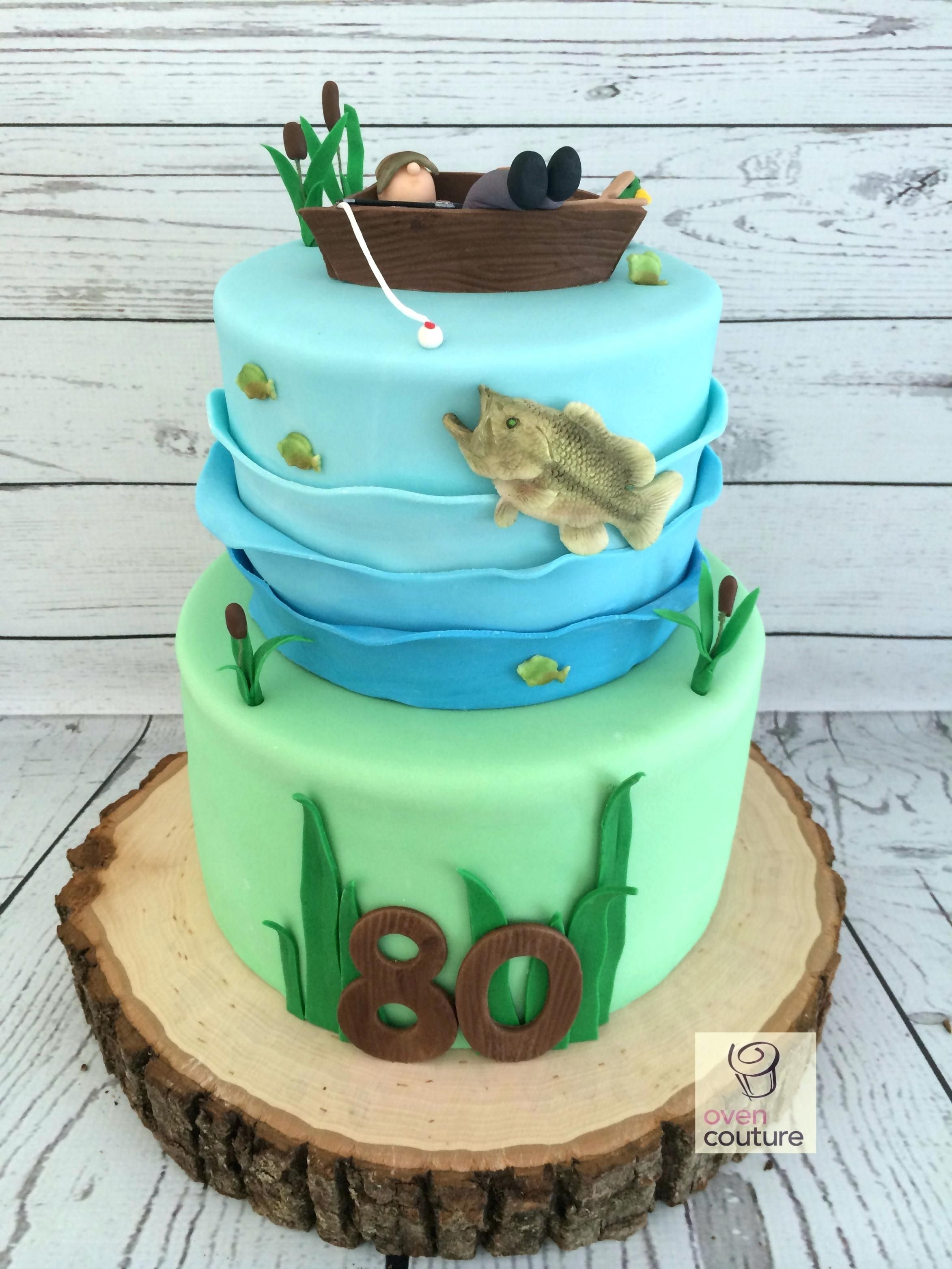 Fisherman Birthday Cake Fishing Bass For Themed Cakes Birthday