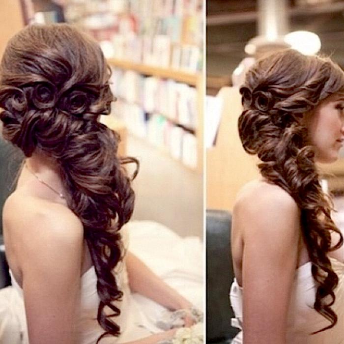 Long Brunette Plaited Hair