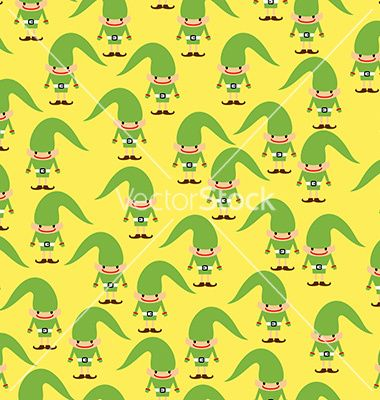 Elf seamless pattern christmas background ornament vector