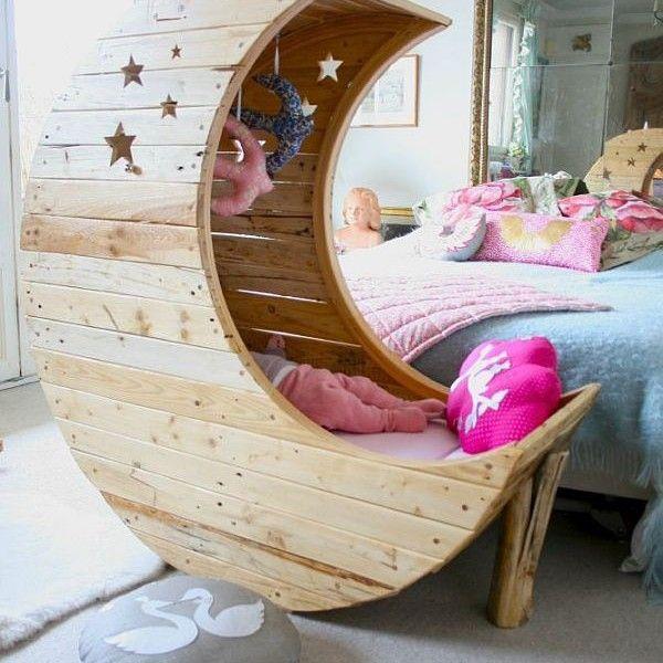 babywiege-design-holzpaletten | interieur design | pinterest, Schlafzimmer