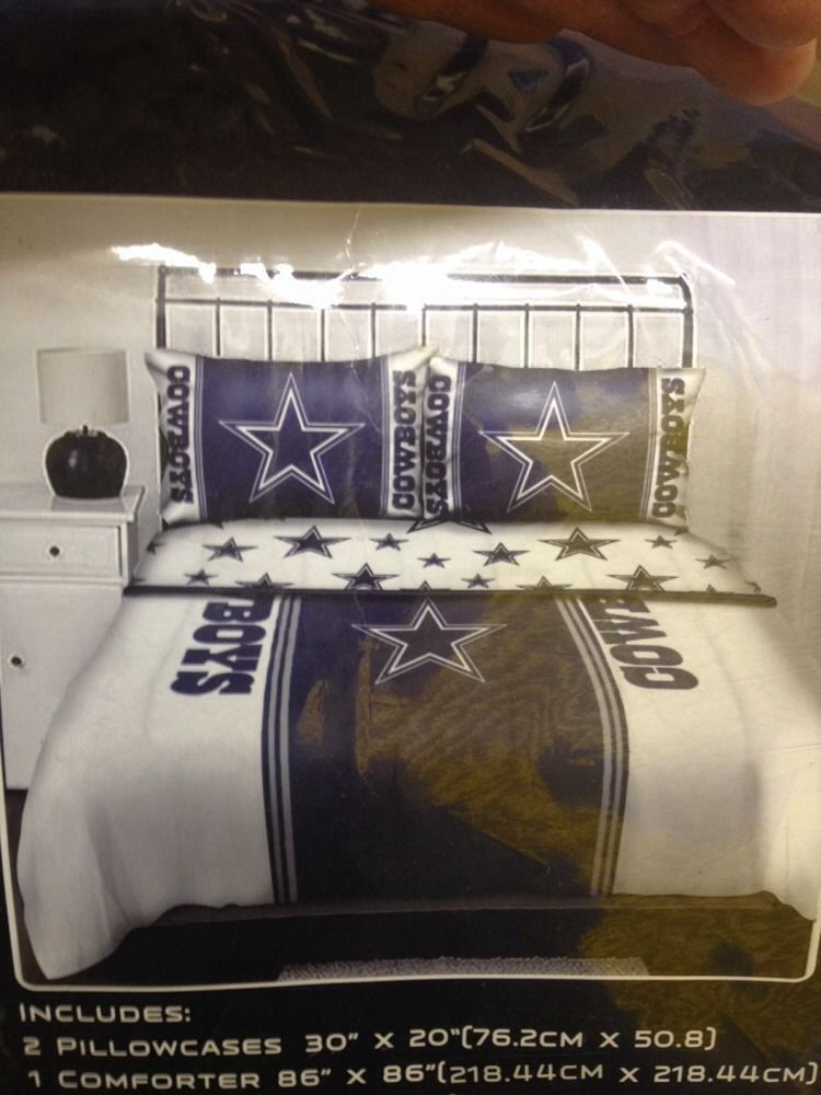 Dallas Cowboys Queen Size Bedding Set In Bag 5 Pc NFL Licensed
