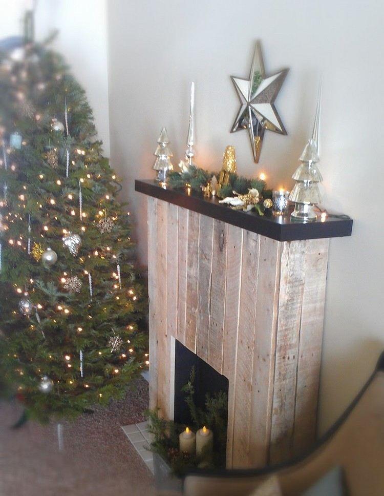 kaminkonsole aus holzbrettern alter europaletten diy fireplace pinterest selber bauen. Black Bedroom Furniture Sets. Home Design Ideas