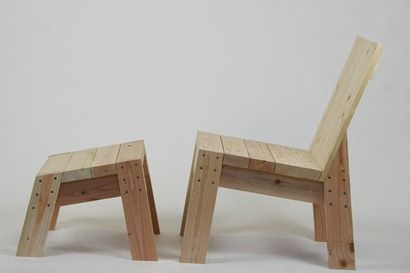 2x4 Chair And Footrest Recicladopara Paredes