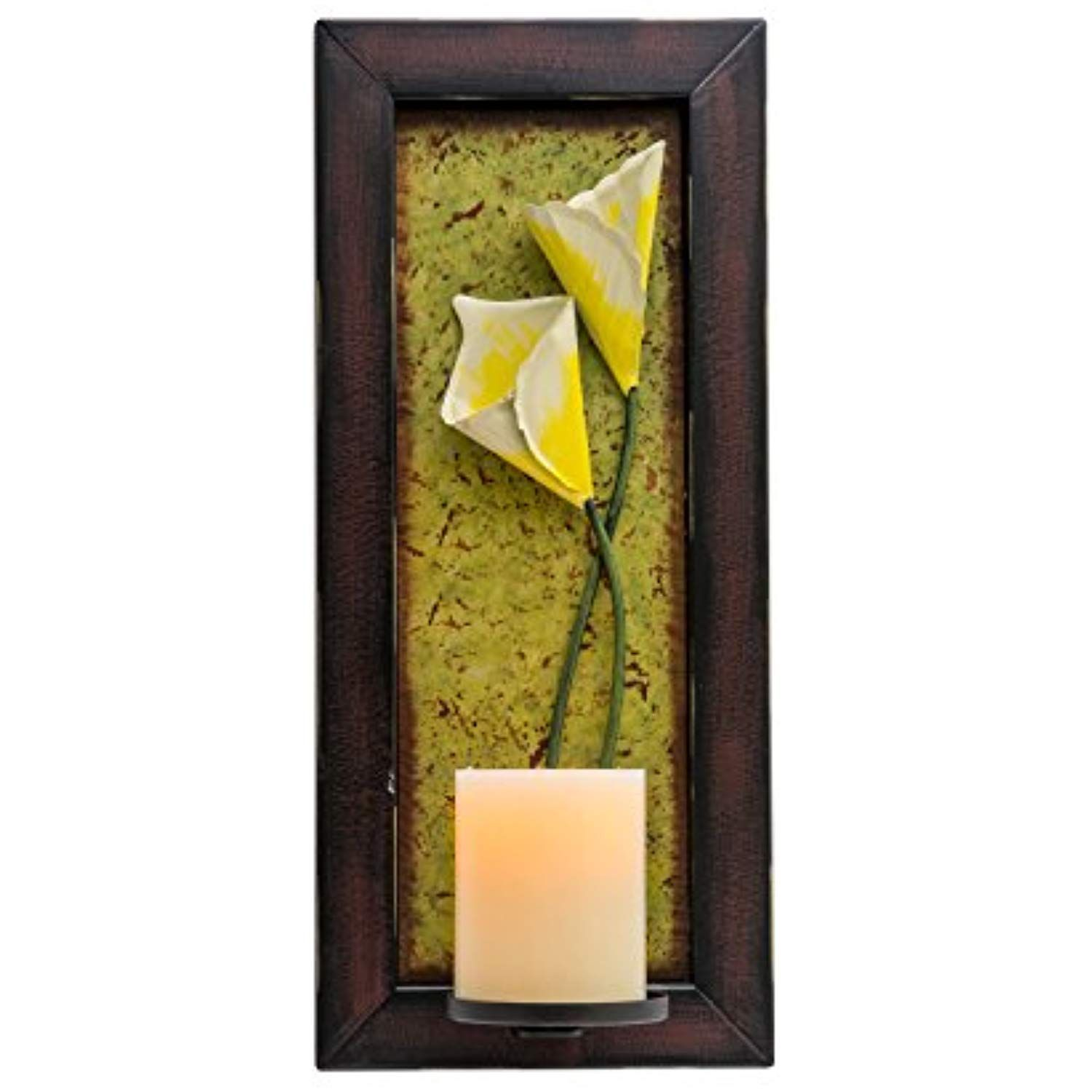 Candle Impressions Floral Wall Sconce With Real Wax Flameless Candle Included Click Image To Review More Details Candle Impressions Wall Sconces Floral Wall