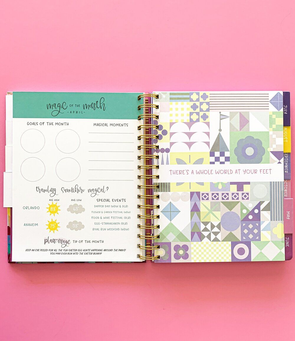 2020 Plan the Magic Planner Anniversary plans, How to