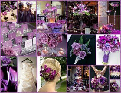 Lele Fl Tiffany Blue Purple Wedding