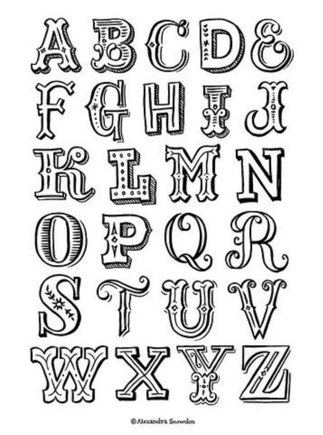 5a6db83f099c98357d2b211a999a9b51 Letter Alphabet Easy Lettering 639x862