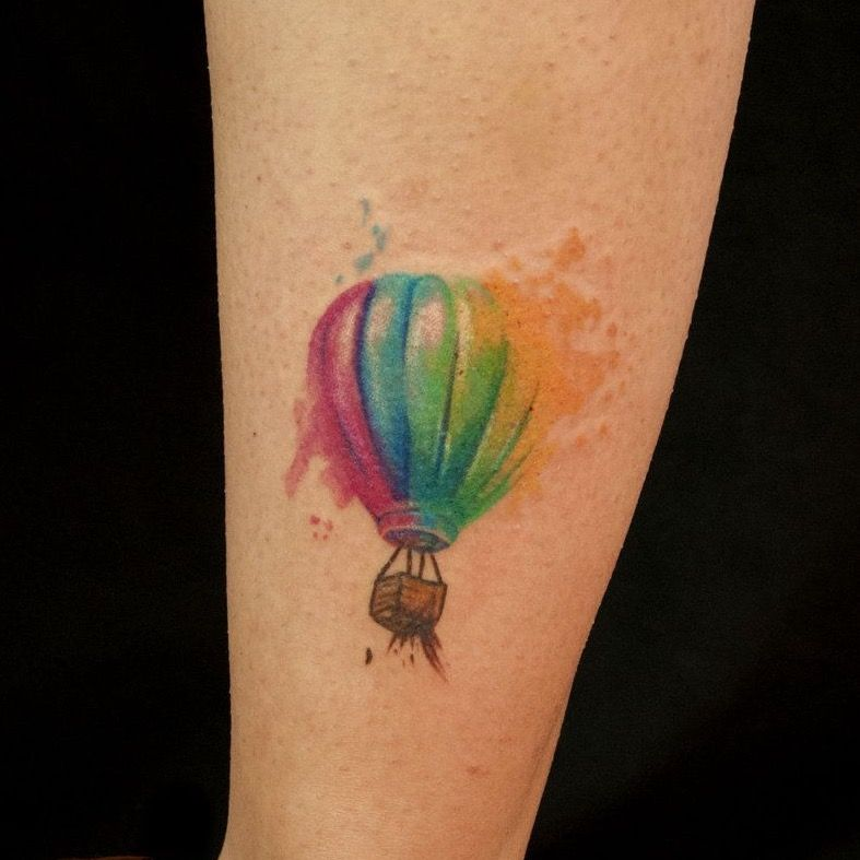 35 Poetic Hot Air Balloon Tattoos Balloon Tattoo Air Balloon