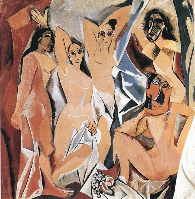 Pablo Picasso, Las Señoritas de Avignon.
