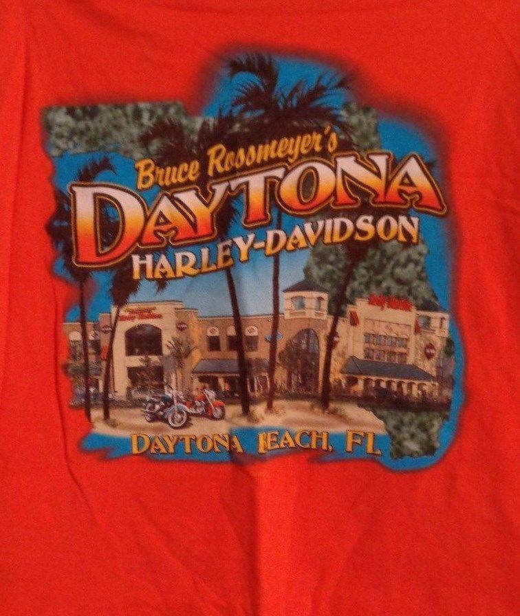 Harley Davidson Daytona Beach T Shirt Bruce Rossmeyers Large 2002