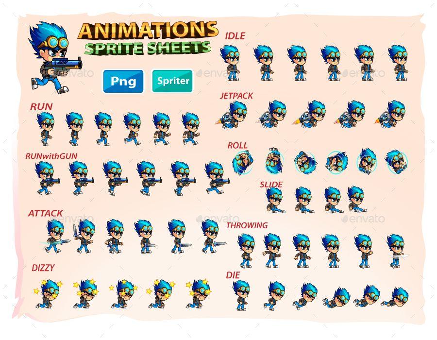 2D Game Character Sprites Game character, Sprite, Game