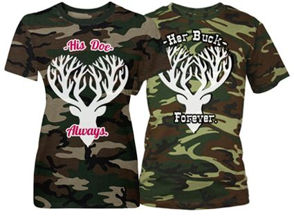 7bbe86a5e5 Her Buck Forever: Custom Unisex Code V Camouflage T-Shirt - Customized Girl  #matchingcouples #matchingcouplesshirts #buck #doe