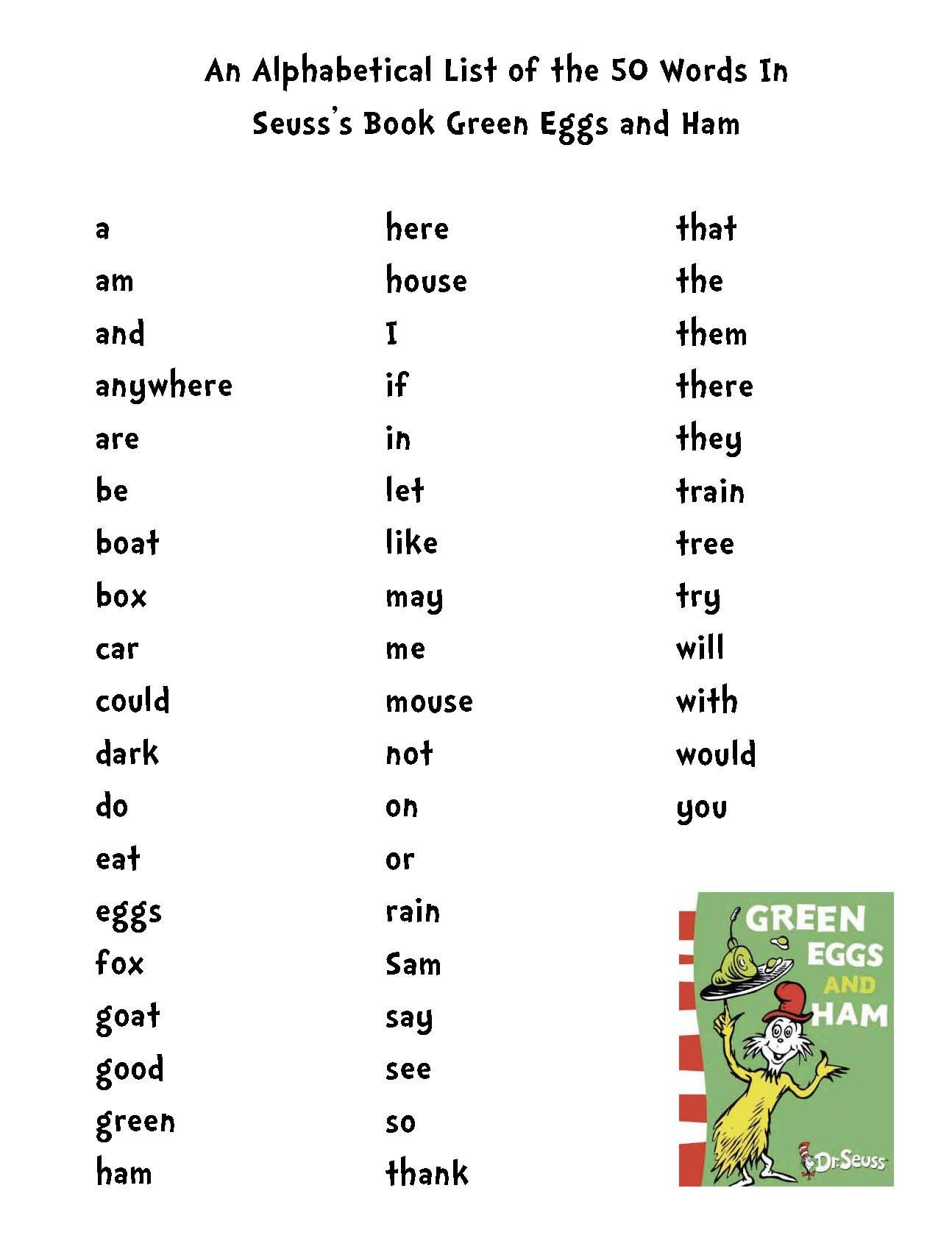 More Activities For Dr Seuss S Green Eggs And Ham