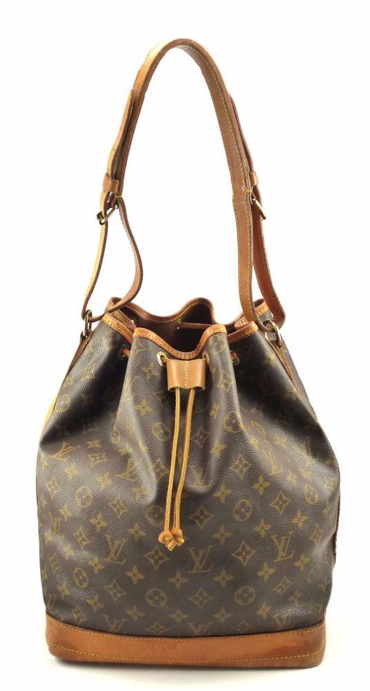 64d93bdb0b95 Louis Vuitton Authentic Malletier Noe Monogram Canvas Bucket Shoulder Bag