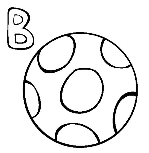 Letter B Is For Ball Coloring Page Best Place To Color Coloring Pages Letter B Letter B Coloring Pages