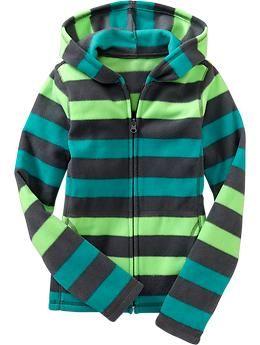 Girls Micro Performance Fleece Zip Hoodies  339046758