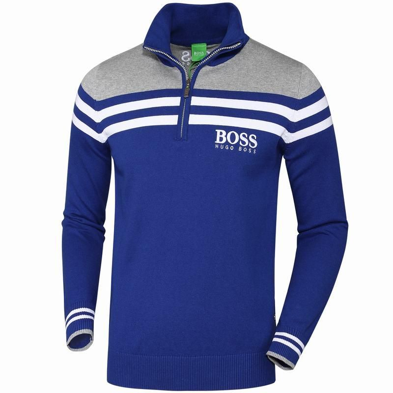 c9441d6a4 Replica Hugo Boss Men Cultivating Long-Sleeved Polo Man Sweater Mens  Pullovers