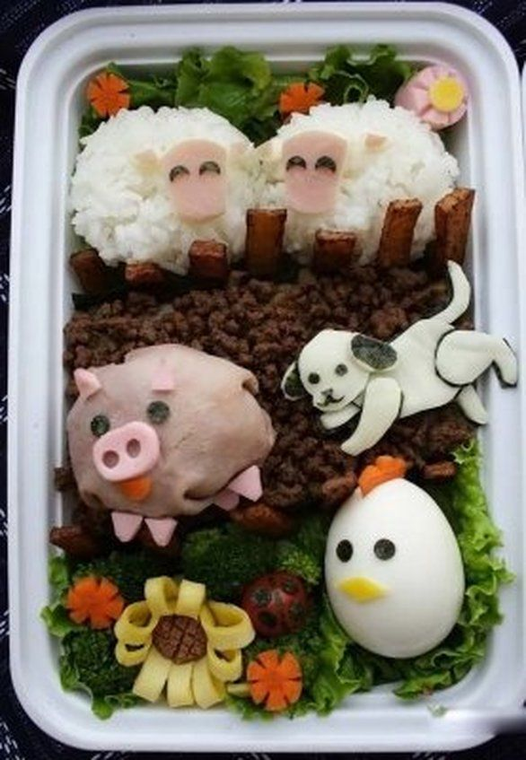 Creative Ways To Arrange Food For Kids  This is a style of lunch called Bento.