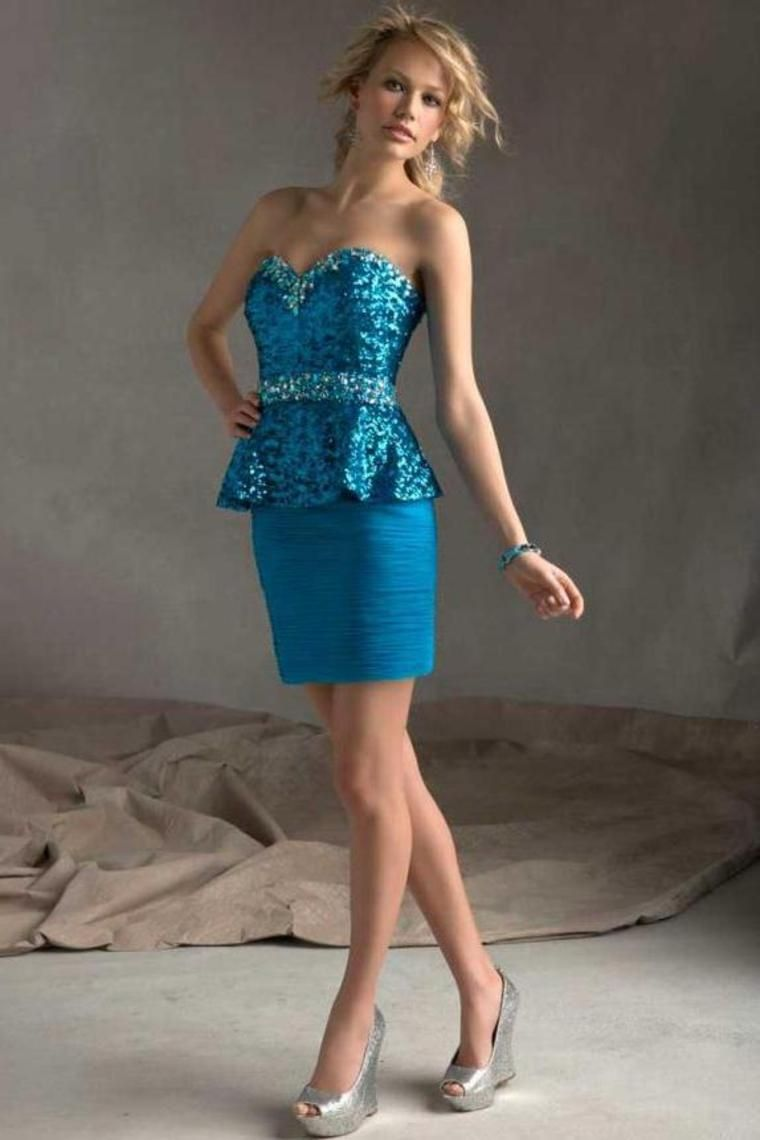 Homecoming dresses blue sexy gorgeous party dresses shortmini