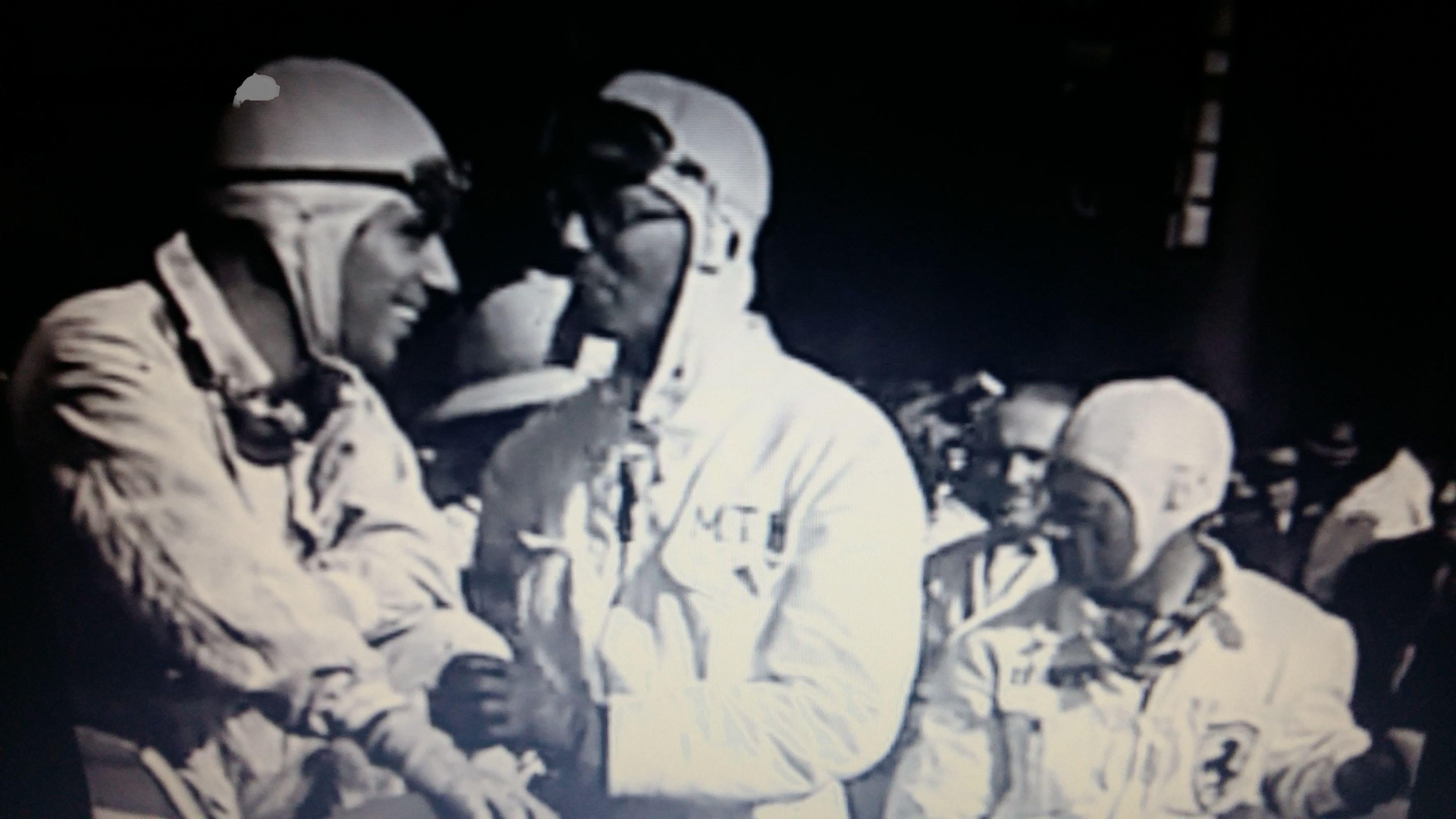 GP RIO DE JANEIRO (GAVEA) 1936 , Carlo Pintacuda , Atillio Marinoni (both of Scuderia Ferrari) ,  Manuel de Teffé on center.