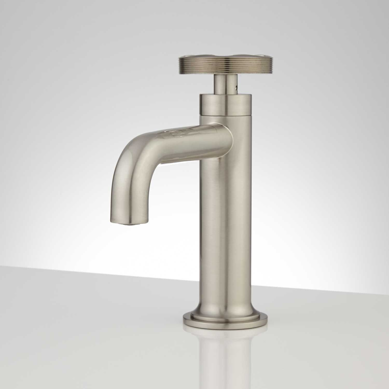 Edison Single Hole Brass Bathroom Faucet with Pop-Up Drain | Brass ...